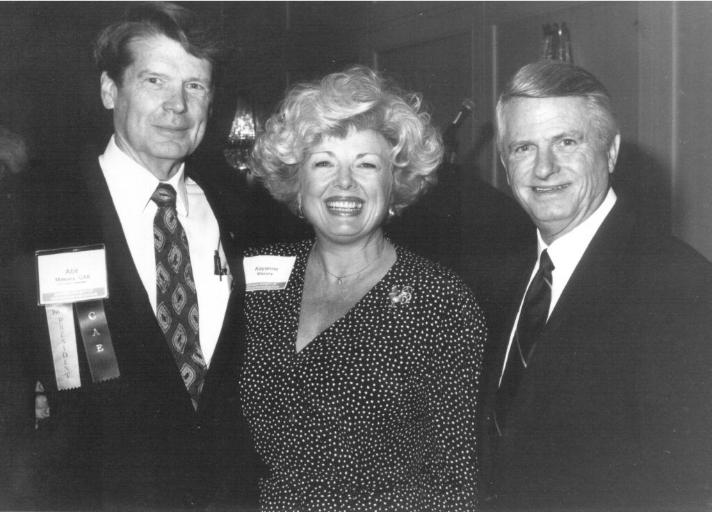Abit and Kayanne Massey, and Zell Miller enjoying a past GSAE event.