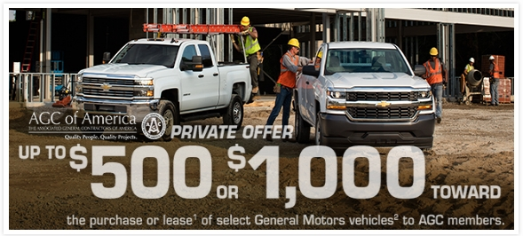 Approximately 10,000 AGC members purchase or lease vehicles through AGC's affinity partnerships every year, saving $500 to $2,000 per vehicle just for being an AGC member. Numerous members save more on vehicles than they are paying in dues to their local chapter.