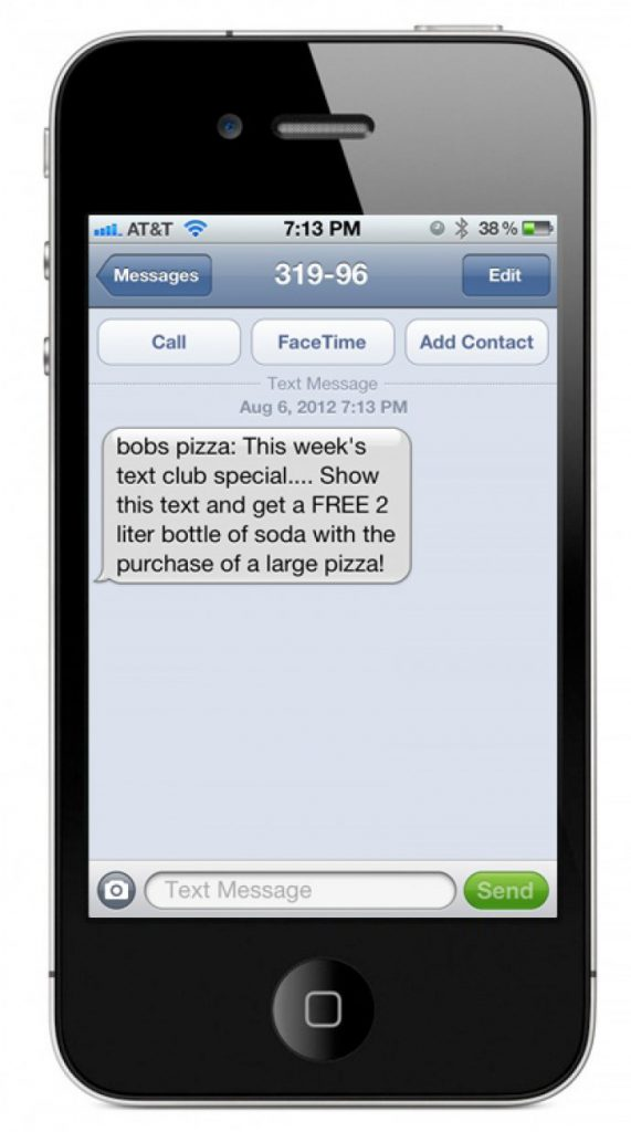 Publication advertising can take the form of sponsored text messages.