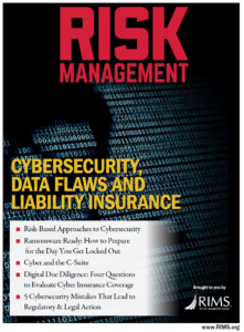 RIMS Risk Management Magazine cover Cybersecurity