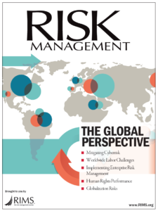 RIMS Risk Management Magazine cover Global Perspective