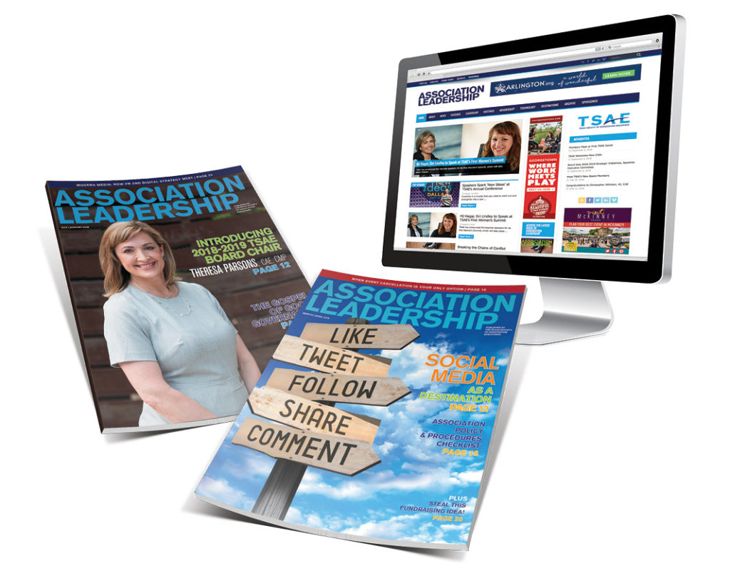 TSAE Increased ad sales and event attendance by 12% each following a brand refresh and the creation of a microsite for their magazine Association Leadership.