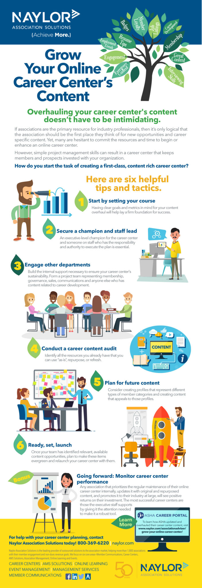 Grow Your Career Center Infographic