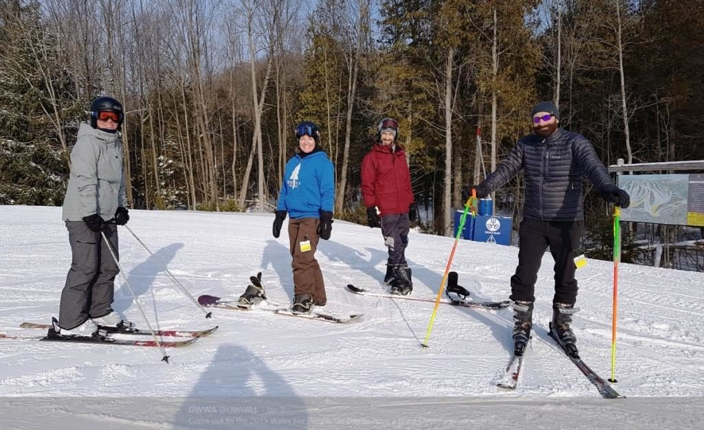 The Ontario Water Works Association sponsors events like member ski day to encourage OWWA members to network and share ideas while having some fun.