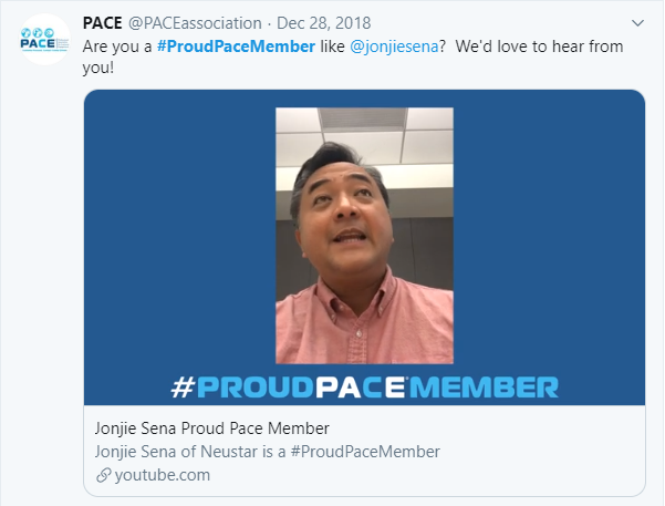 The #ProudPACEMember campaign encourages PACE members to share why they continue to hold membership with PACE.