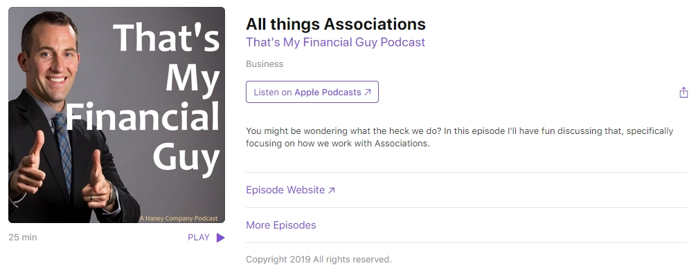 """That's My Financial Guy!"" Podcast advertisement"