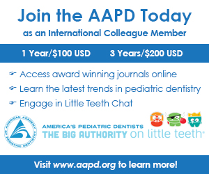 Ad about membership in the American Academy of Pediatric Dentistry