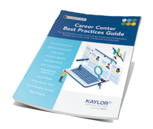 blue and white cover of Career Center Best Practices Guide