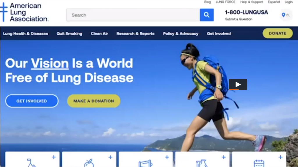 American Lung Assoc UX