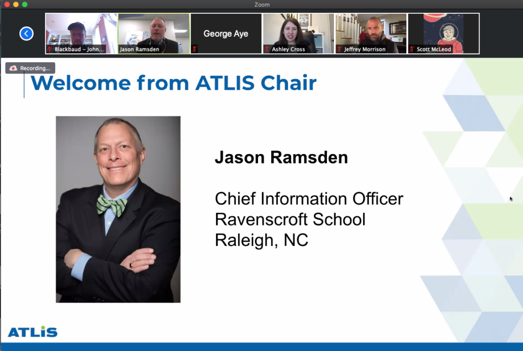 A screen grab from the 2020 ATLIS virtual conference