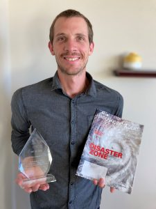 Will Jones shows off two awards Independent Agent magazine has recently won.