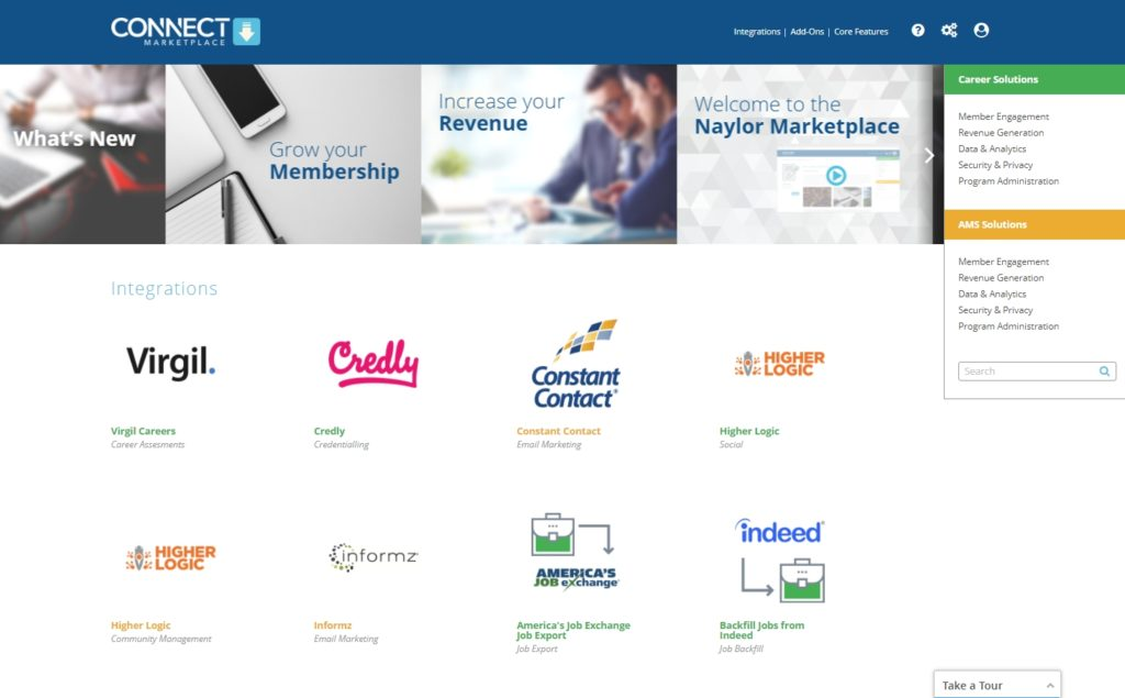 Connect Marketplace easily integrates third-party apps with your career center or AMS.