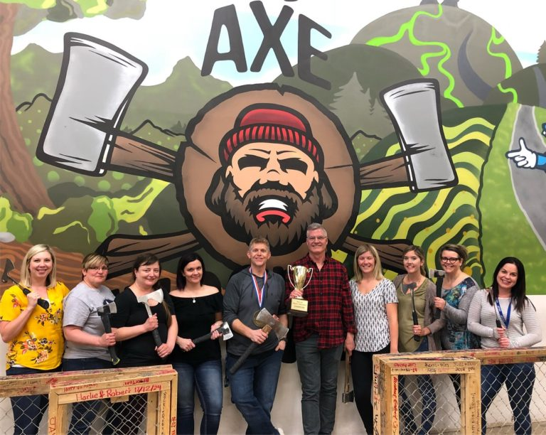 Team Building at Bad Axe Throwing Winnipeg