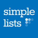 Simple Lists, an AMS app in the Naylor Marketplace