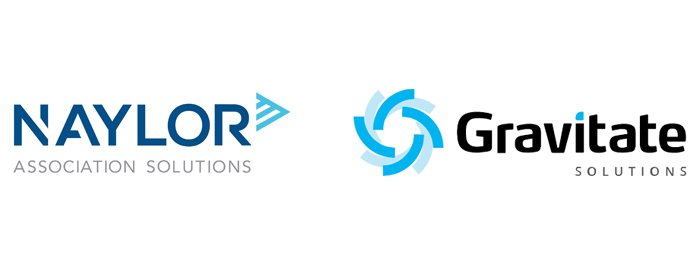 Naylor logo next to Gravitate logo