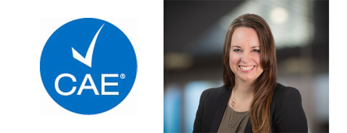 Sarah Sain achieves CAE designation
