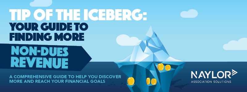 Promo for the Tip of the Iceberg Your Guide to More Non-dues Revenue eBook